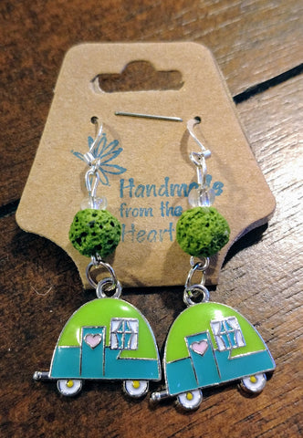 Vintage Camper Aromatherapy Lava Earrings