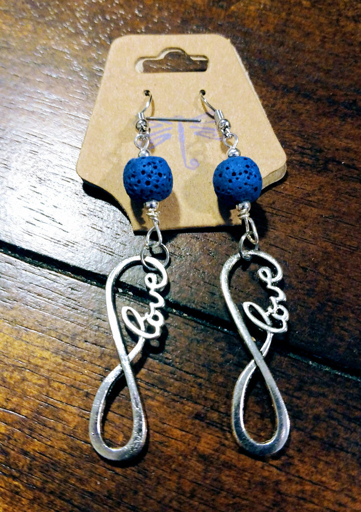 Love Infinity Aromatherapy Lava Earrings