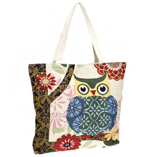 Owl on Branch Bag