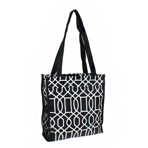 Geometric Black Book Bag