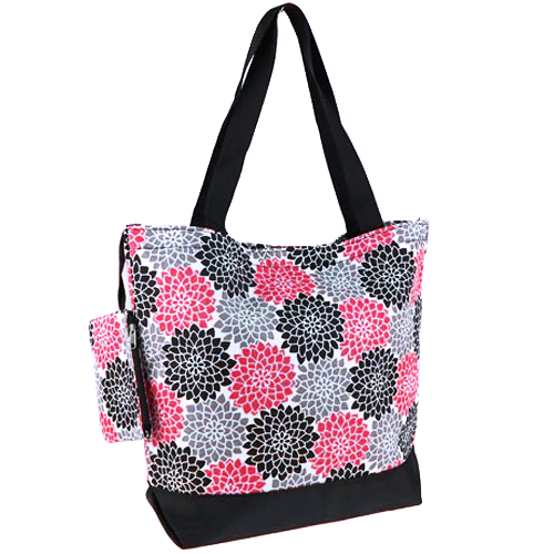 Lotus Flower Fuchsia Shopping Tote