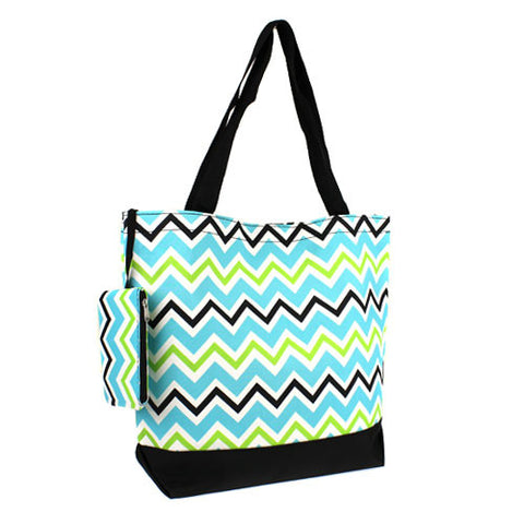Chevron Multi Colored Shopping Tote