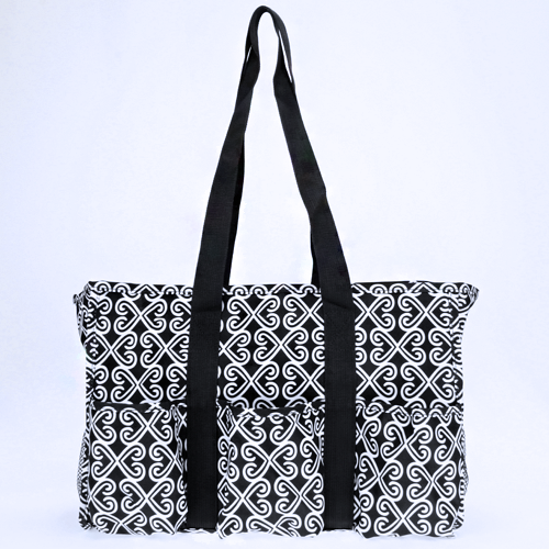Twist Black and White Utility Bag