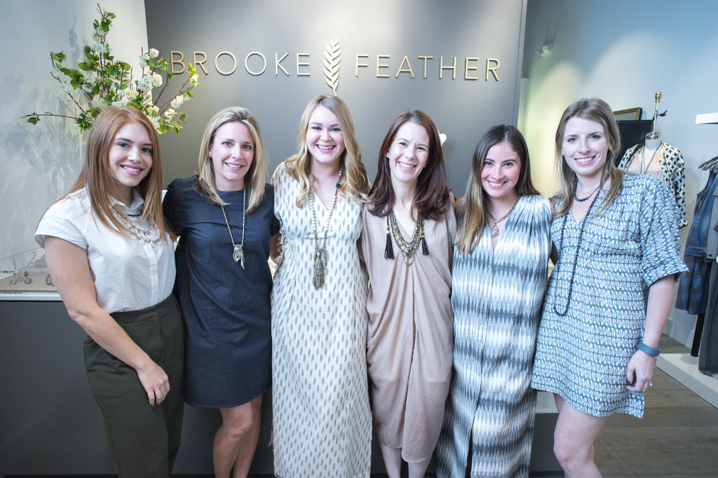brooke feather mirth caftans launch party