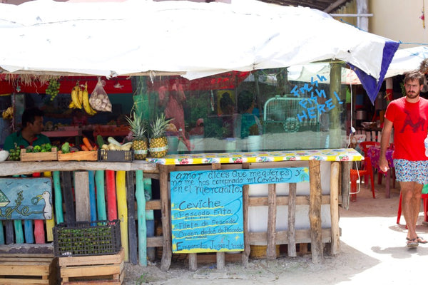 downtown market holbox island mexico