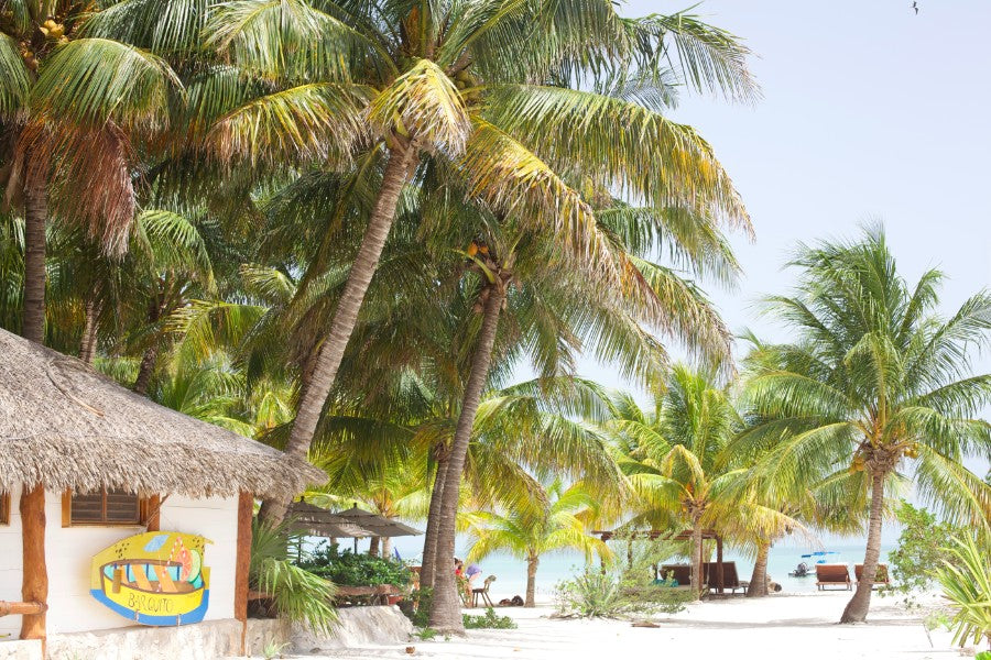 beachside in holbox island mexico