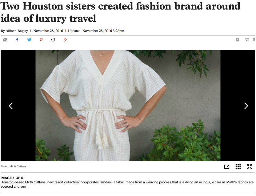 mirth caftans sisters in houston chronicle 2016