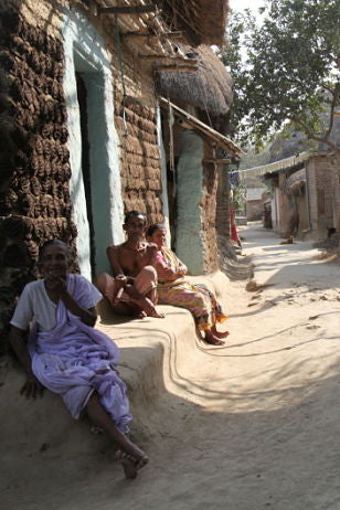 handloom in india - village in west bengal