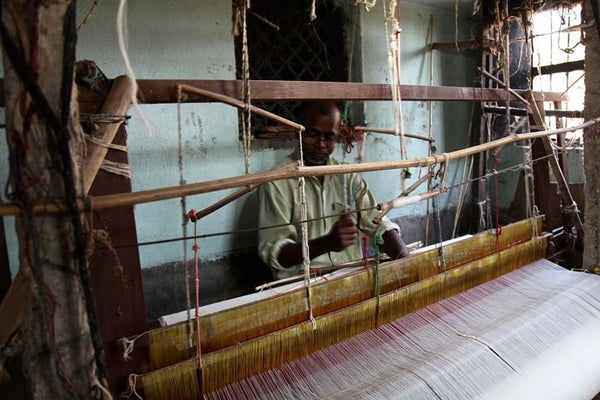 jamdani handloom textiles from west bengal india - travel and resort wear from mirth