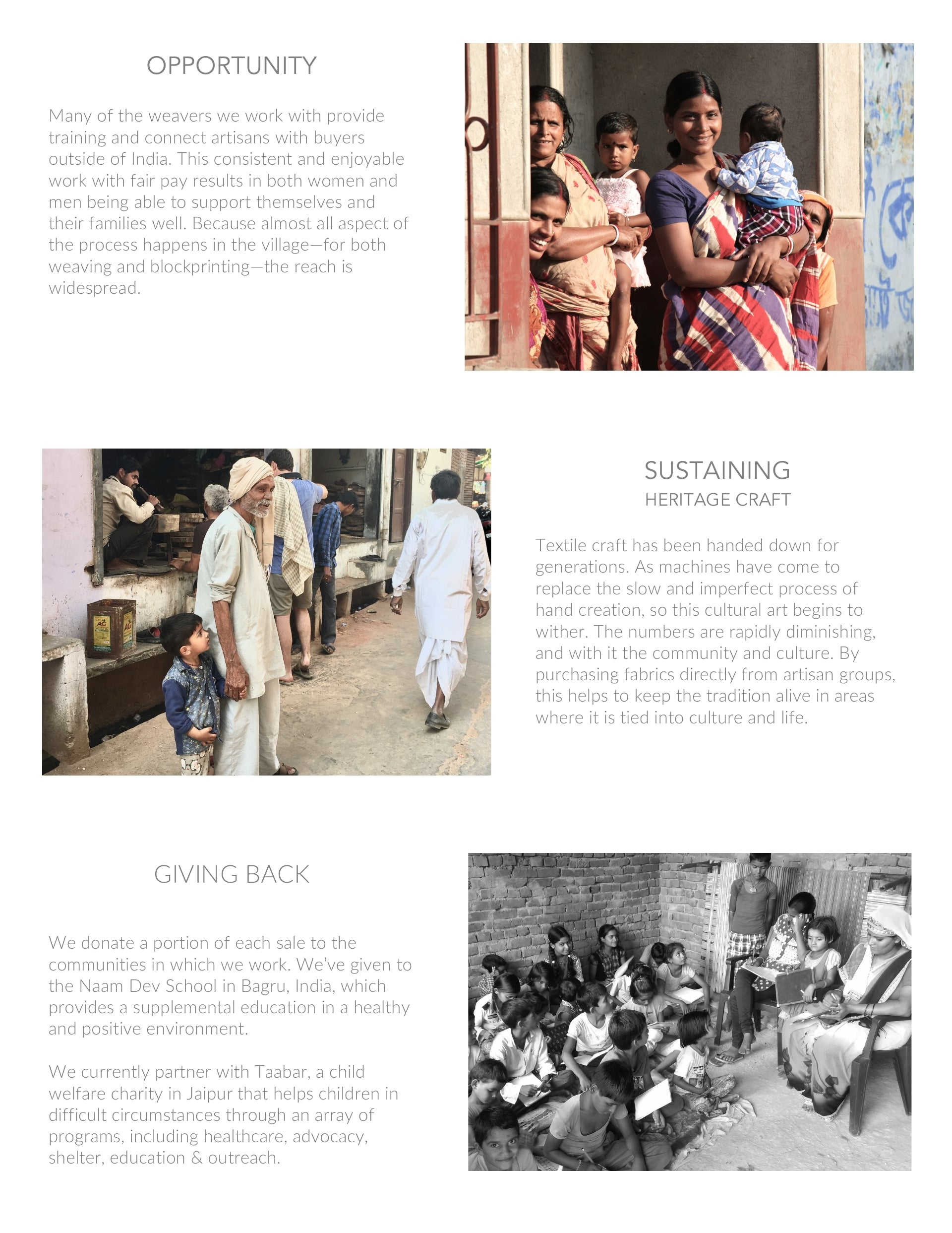 social impact and sustaining heritage textile craft india