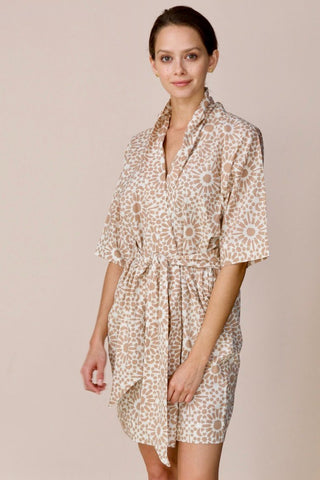 laos robe in desert sand sunprint