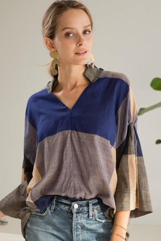 brindisi plaid top