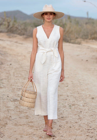 brooklyn jumpsuit in white