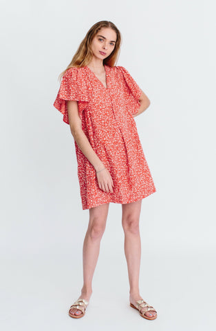 coba dress in poppy