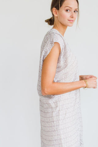 corfu blockprinted caftan coverup