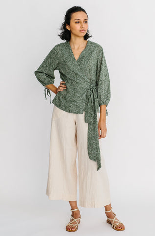 krabi wrap top in moss