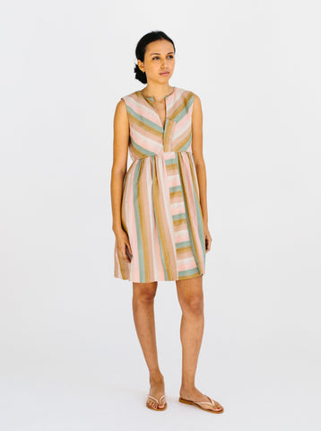 short striped vacation dress