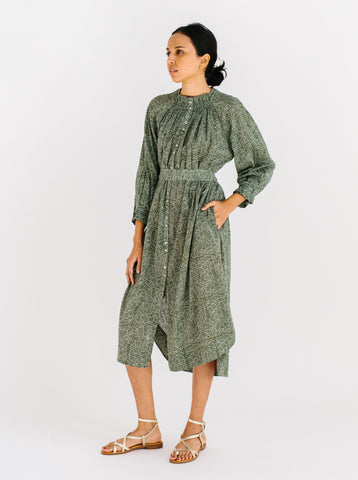 vienna caftan in moss