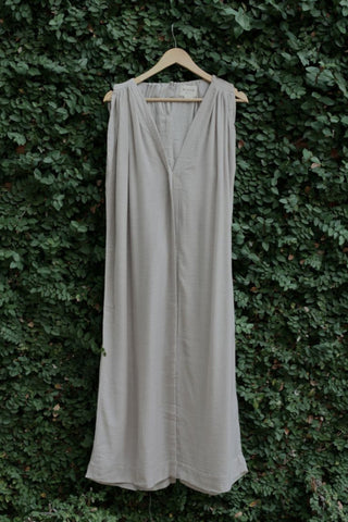 gray luxe soft wool blend long kaftan