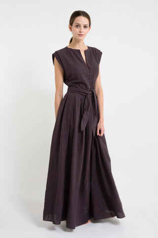 lagos dress in soft black