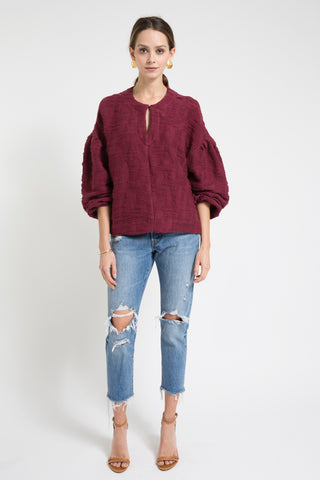 venice top in burgundy