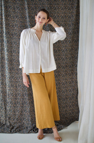 vienna blouse in ivory