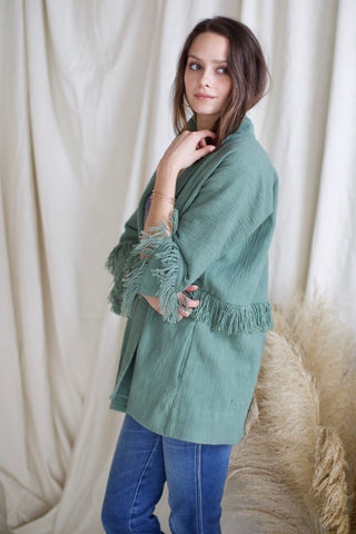 laos jacket in jade