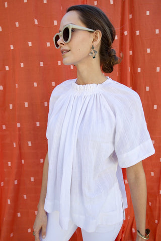 vienna blouse in white