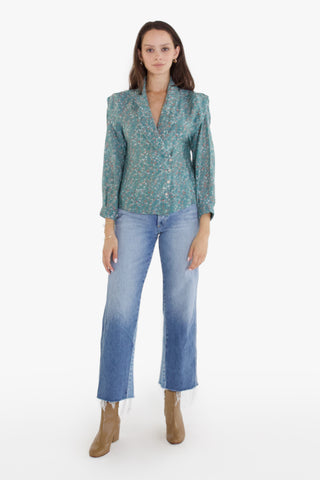 mendoza blouse in winter berry