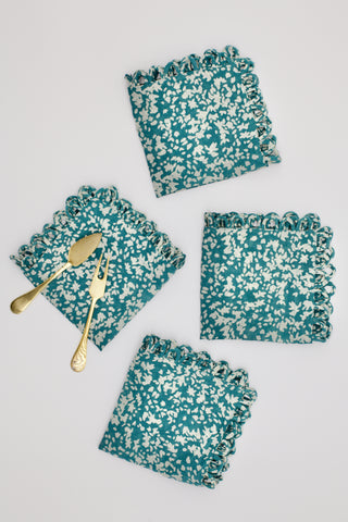 cocktail napkins in teal