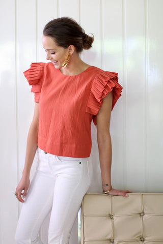 palermo top in tangerine
