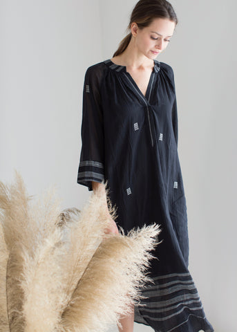 palm springs caftan in black