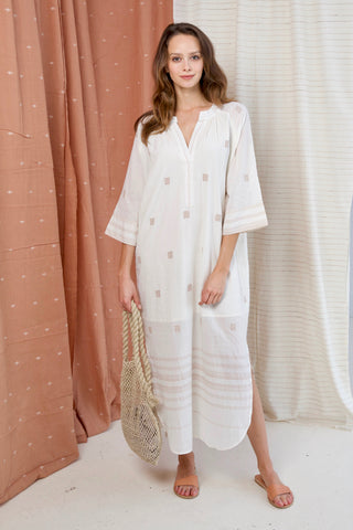 palm springs caftan in ivory
