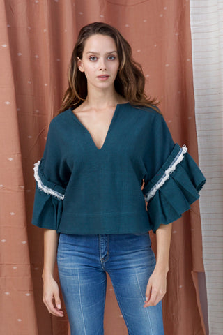 amer top in emerald