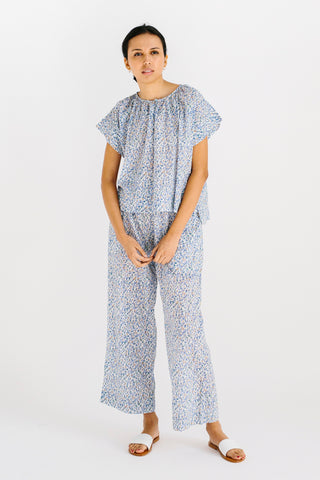 high quality soft cotton printed pj pajama pant set gift