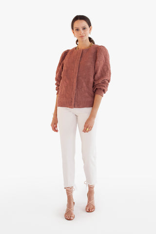 venice jacket in ruby