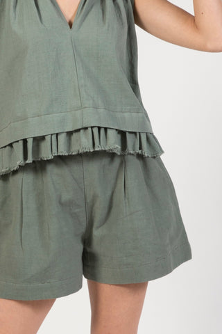 bodrum short in dusty green