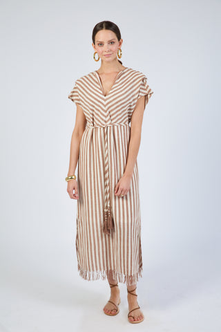 sydney in taupe stripe