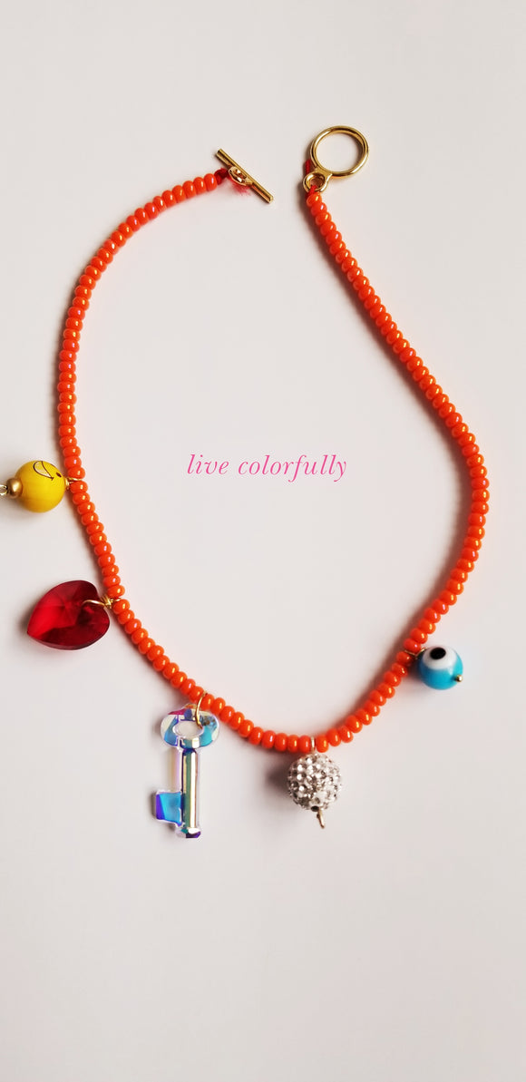 Live Colorfully Necklace