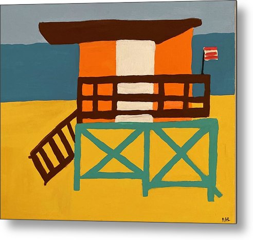 Beach Watch - Metal Print