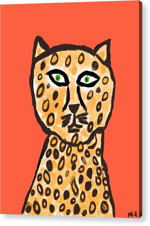 Cheetah Love - Acrylic Print