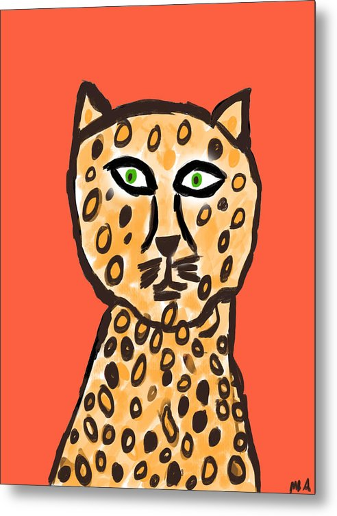 Cheetah Love - Metal Print