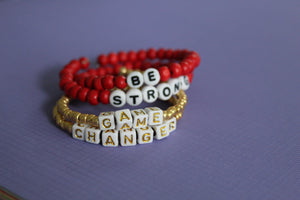 Game Changer and Be Strong Bracelet Set
