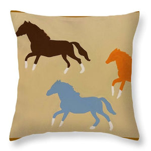 Triple Cantor - Throw Pillow