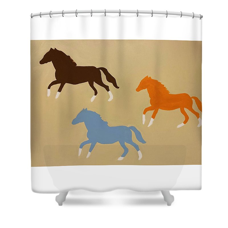 Triple Cantor - Shower Curtain