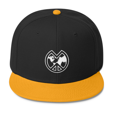 Los Angeles Gold and Black MWP Logo Snapback
