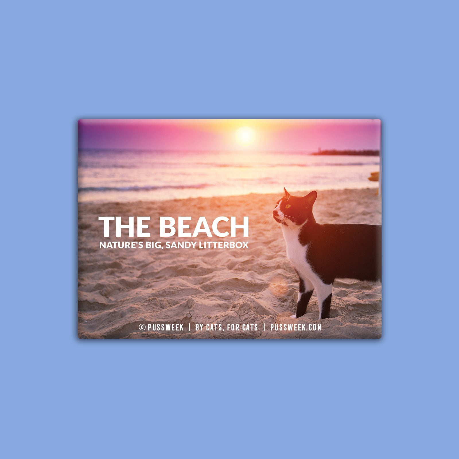 The Beach - Deluxe Magnet