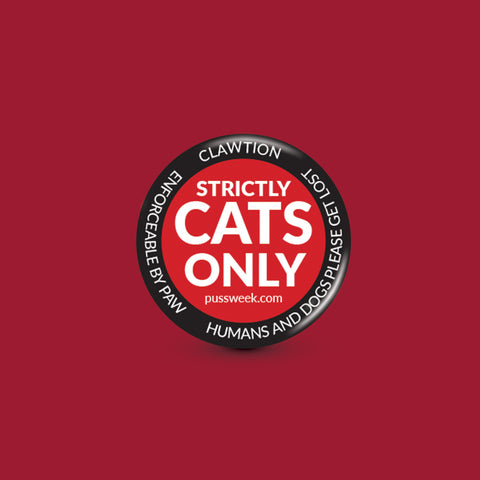 Strictly Cats Only - Collar Pin