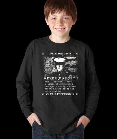 Jason Davis Youth Long Sleeve