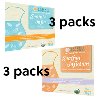 Soothin Infusion- Combo Pack - 3 Sweet/3 Unsweetened
